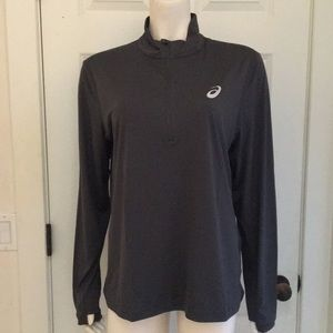 ASICS L/S 1/2 Zip Athletic/Athleisure Top, NWT!